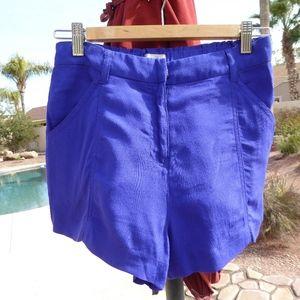 ecote Urban Outfitters Royal Blue Rayon Shorts S